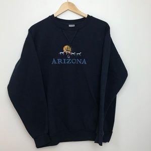 Vintage Arizona Embroidered Crewneck Sweatshirt